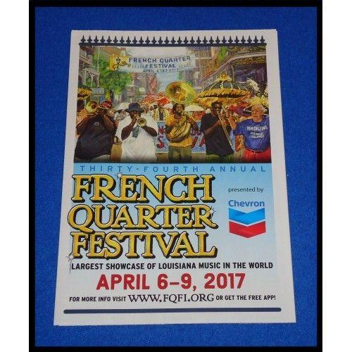BRAND NEW** 2017 FRENCH QUARTER FESTIVAL BROCHURE SOUVENIR - music brochure