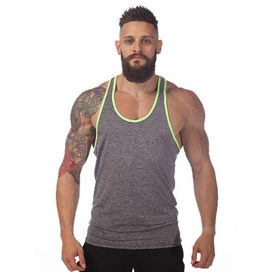 Men/'s Gym Vest Top Black//White//Grey BodyBuilding Fitness Gym Training Wear *New*