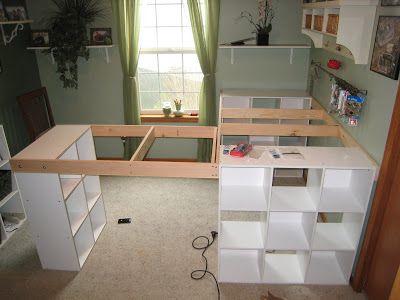 Un meuble d atelier fait à partir de étagère ikea idées pour