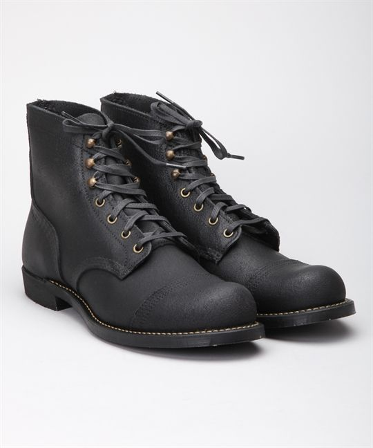 Red Wing Shoes x Wrenchmonkees 6 Iron Ranger 4545-Black Spitfire ...