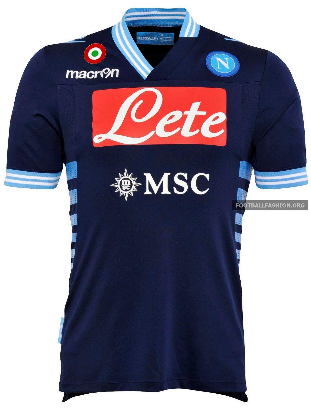 SSC Napoli Macron 2012 13 Away Kit Remeras De Futbol 13a4ada9ac202