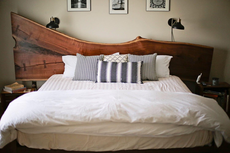 Live edge walnut bed Home bedroom, Bed, Bedding sets