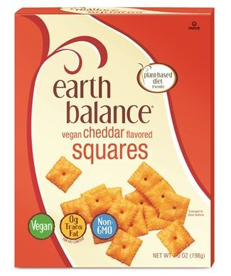 Balance Vegan Cheddar Squares Review & Info (Cheez-It Copycats) Earth Balance Vegan Cheddar Squares - A dairy-free version of Cheez-it crackers!Earth Balance Vegan Cheddar Squares - A dairy-free version of Cheez-it crackers!