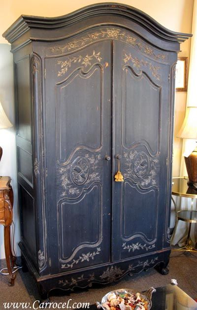 French #Furniture - Country Armoire, lovely colour   www