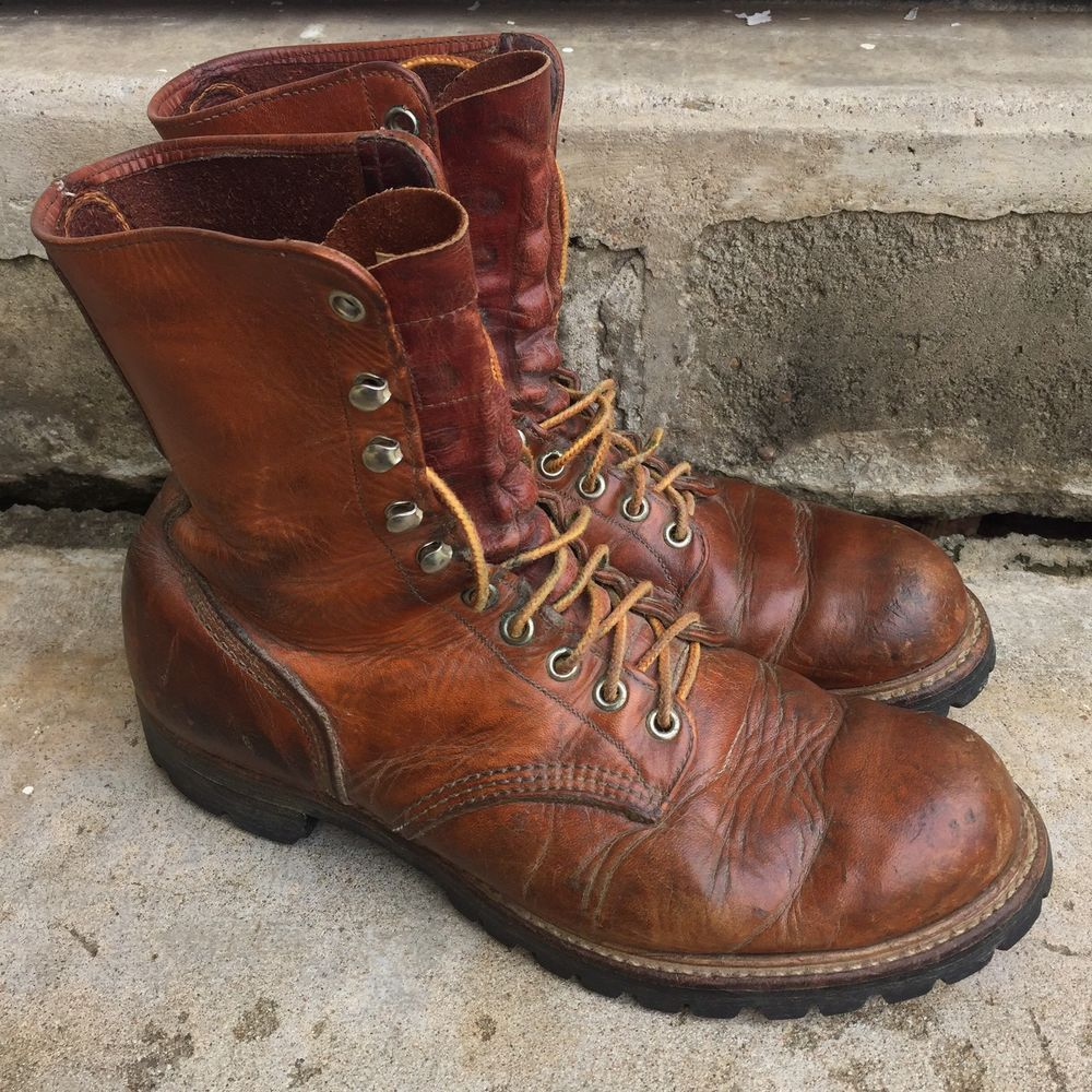9172882c2e664 Vintage 1960s Leather Red Wing Irish Setter Sport Boots Size 9 1/2 ...