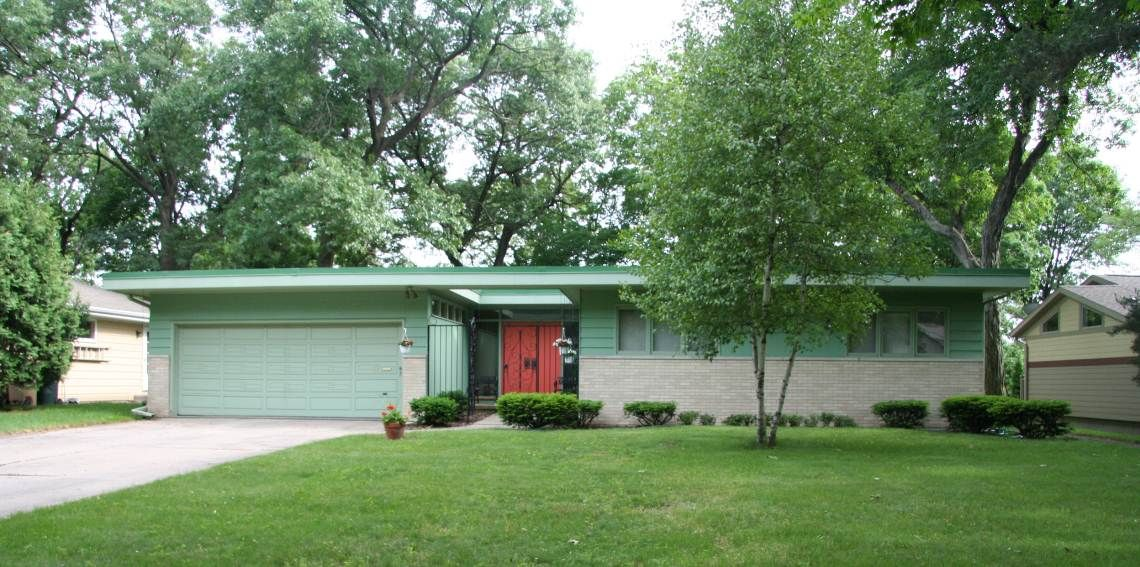 1950 Style Homes gray stone ranch style house from the 1950s | ranch style house