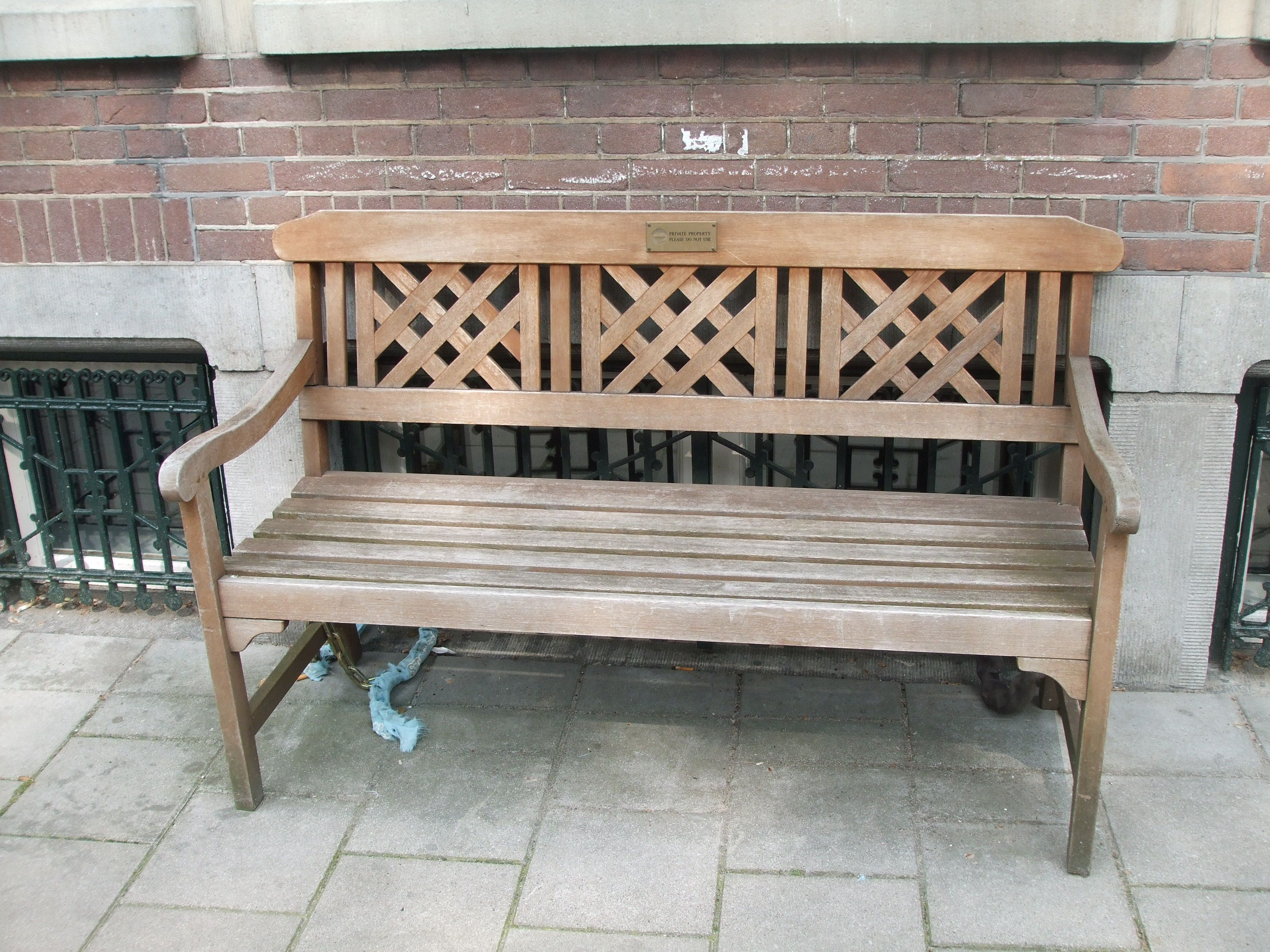 Wooden Carved Bench Have A Seat