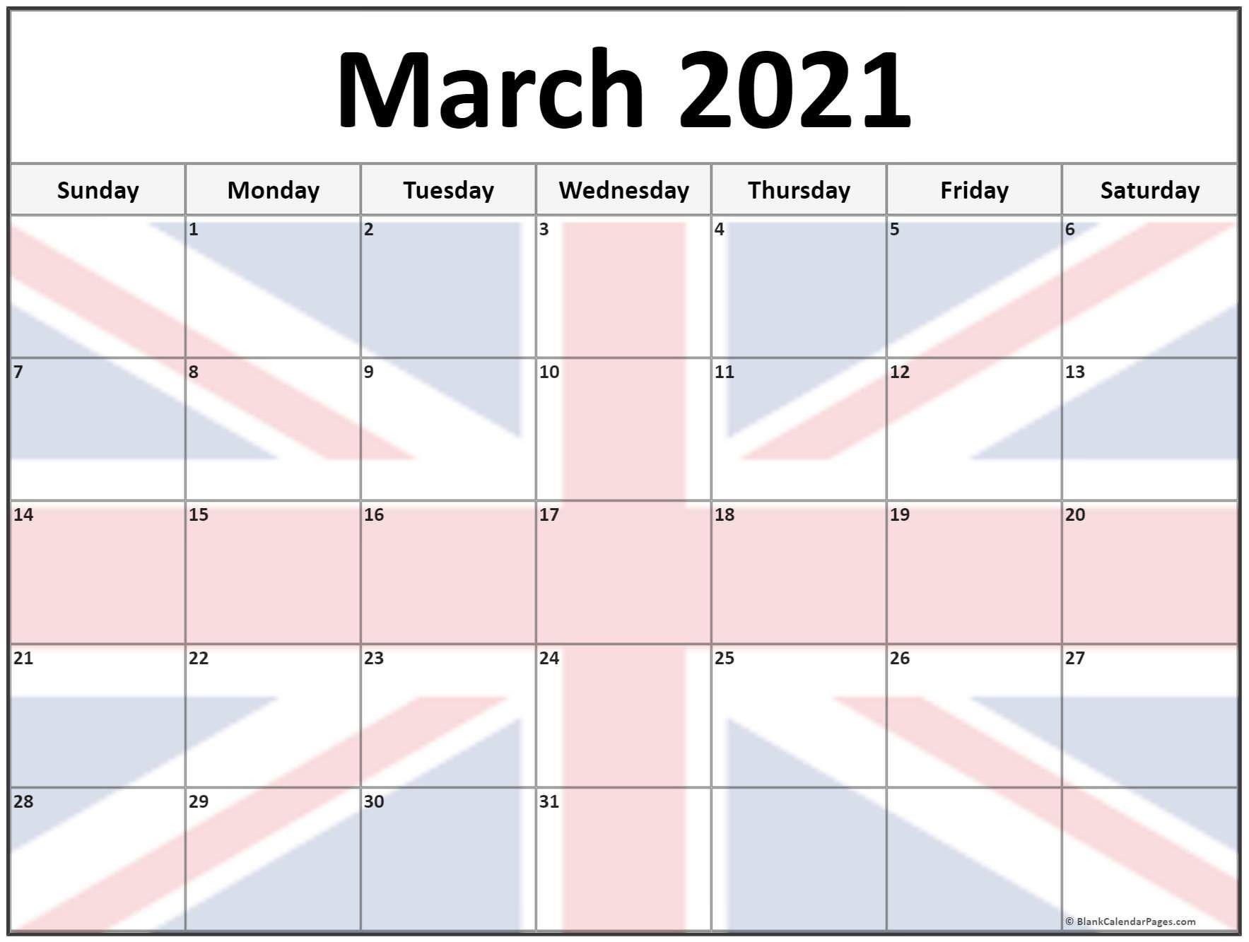 Calendar 2021 March With Australia Flag In 2020 Calendar Uk 2019 Calendar Calendar Printables