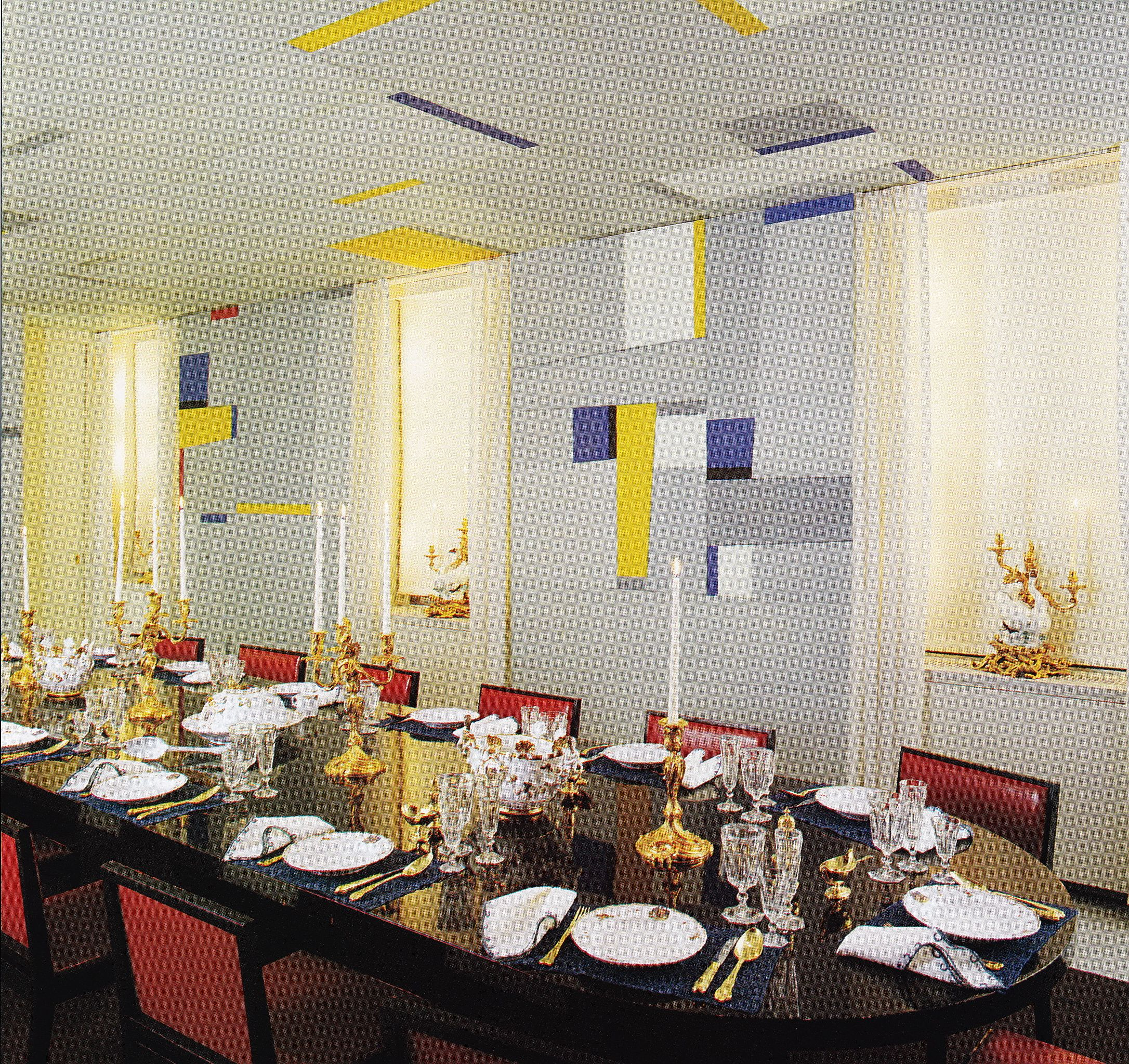 dining room wall stickers uk destroybmx com the rockefeller s dining room in the 1960 s the abstract wall mural was created by