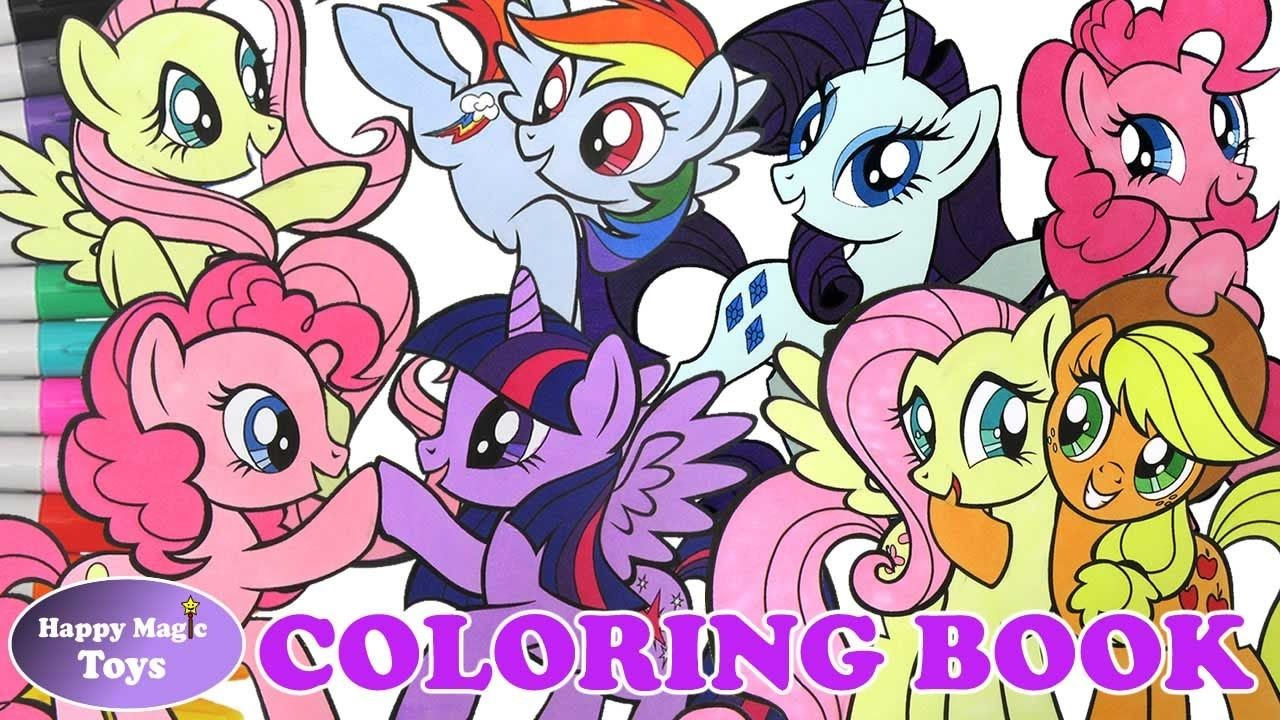 My little pony mlp mane 6 coloring book compilation 1 coloring page frie