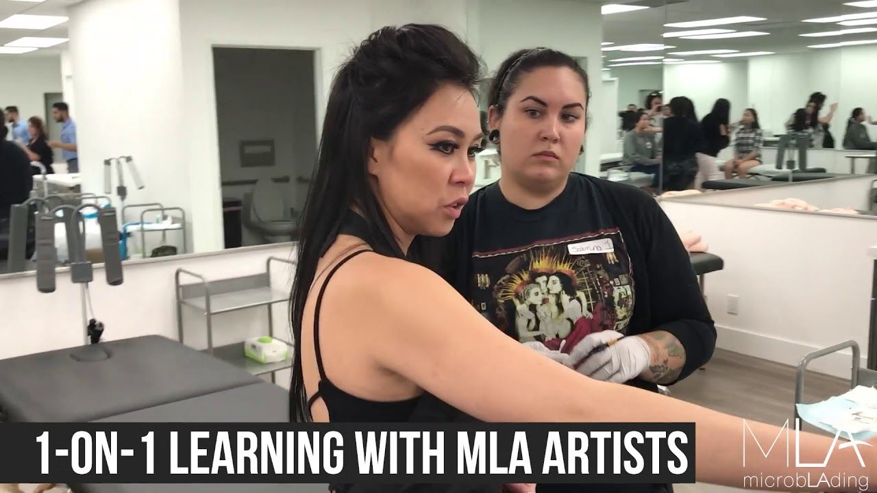 A video about microblading training at Microblading LA