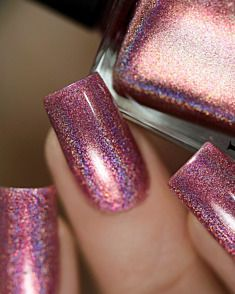 Kiss and Tell - Flamingo Pink Ultra Holographic Na