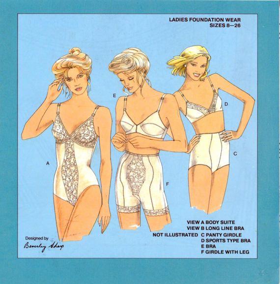 80s Kwik-Knits 315 Body Suit, Long Line Bra, Panty Girdle, Long Leg ...