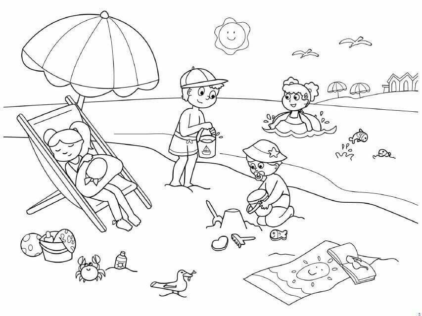 Pin By Shruti Ashar On Alphabet Nnumber Drawing Beach Coloring
