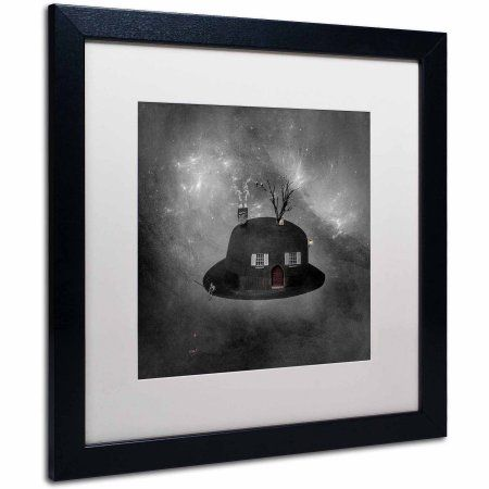 Trademark Fine Art Home Sweet Home Canvas Art by Erik Brede, White Matte, Black Frame, Size: 16 x 16