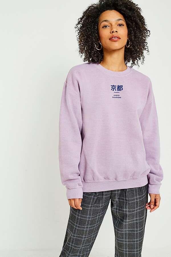 c466eba1 Slide View: 2: UO Kyoto Champions Rose Overdyed Sweatshirt Urban Outfitters,  Sweater Hoodie