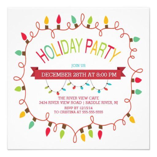 Merry  Bright Christmas Lights Holiday Invitation Christmas