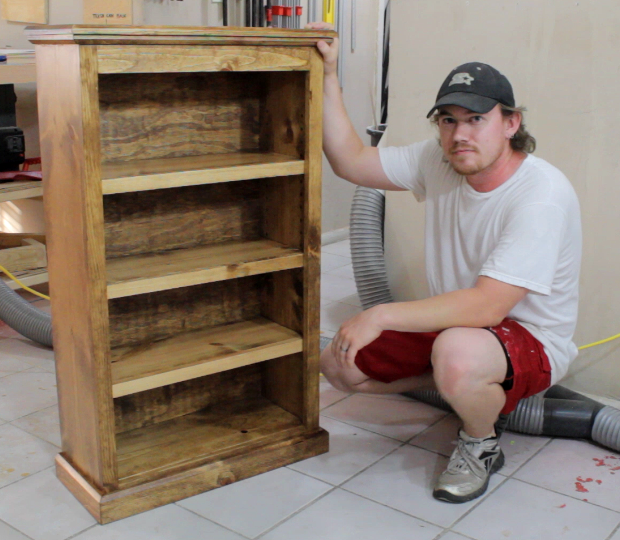 Learn How To Build A Simple Pocket Hole Bookcase