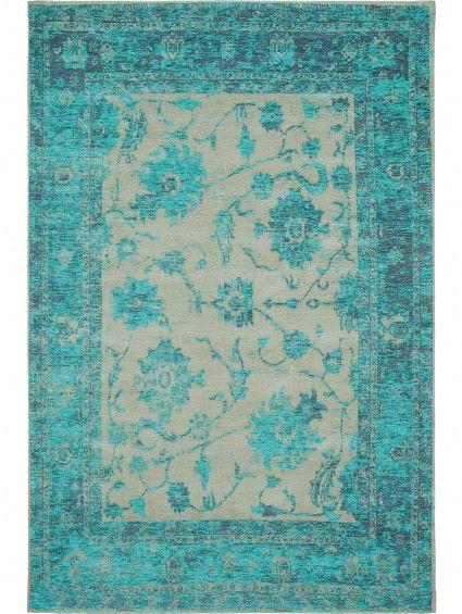 Orientteppich türkis  Vintage Teppich: Flachgewebe Teppich Frencie Flora Türkis #benuta ...