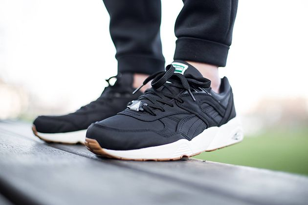 Autumn/Winter 2016 Women / Men Puma Trinomic R698 Nylon black black Whisper White shoes UK RE21004695