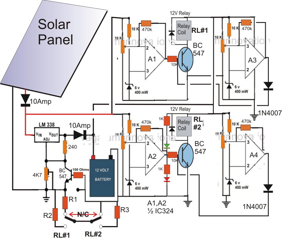 homemade solar mppt circuit maximum  schematic | The Plan