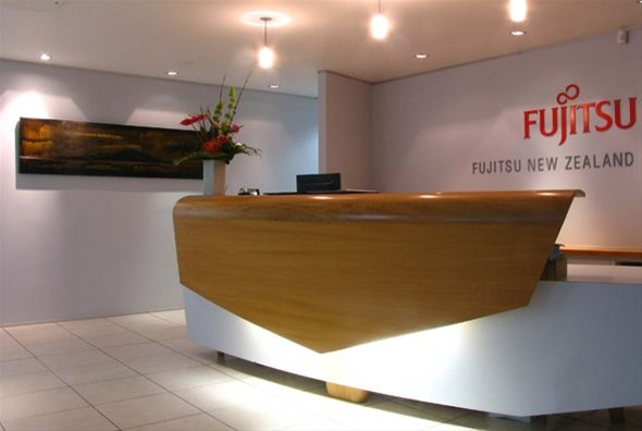 Reception Area Interior Design of Fujitsu office | Architecture ...