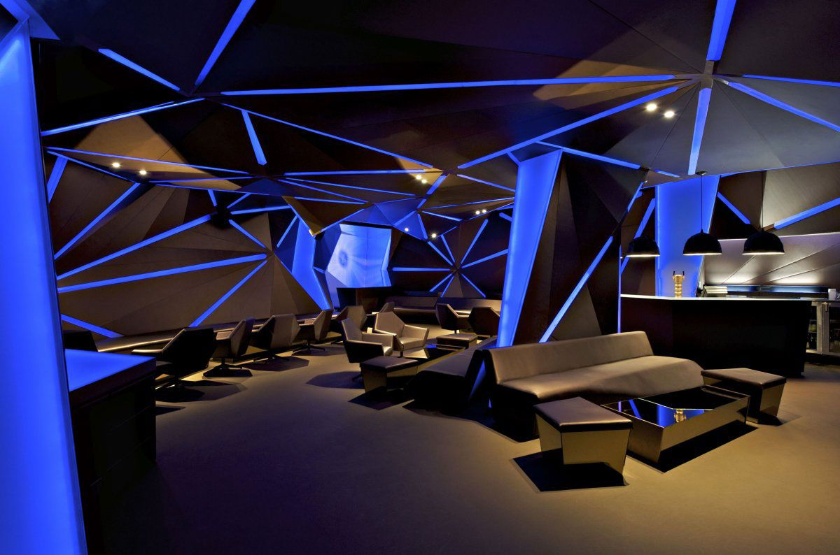 Decor aura spa design by khosla associates architecture interior - Carbon Bar By Khosla Associates Main Bar With Blue Theme