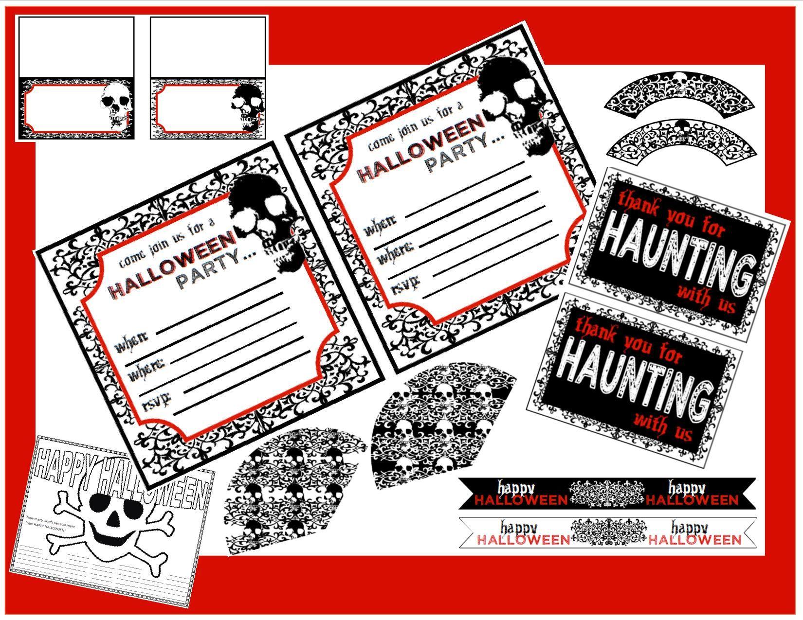 Free Creepy Halloween Printables   Party printables, Halloween ...
