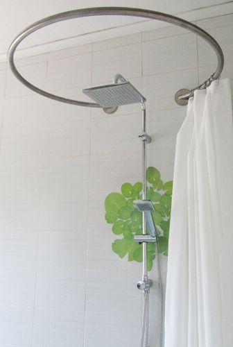 paroi de douche textile circulaire pour