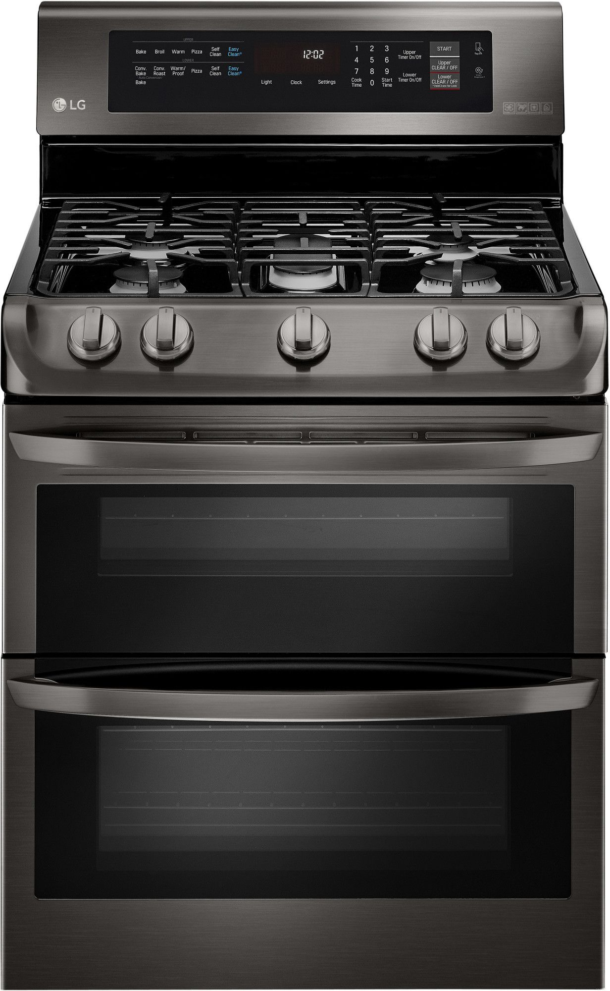LG LDG4315BD 30 Inch Freestanding Double Oven Gas Range with 5