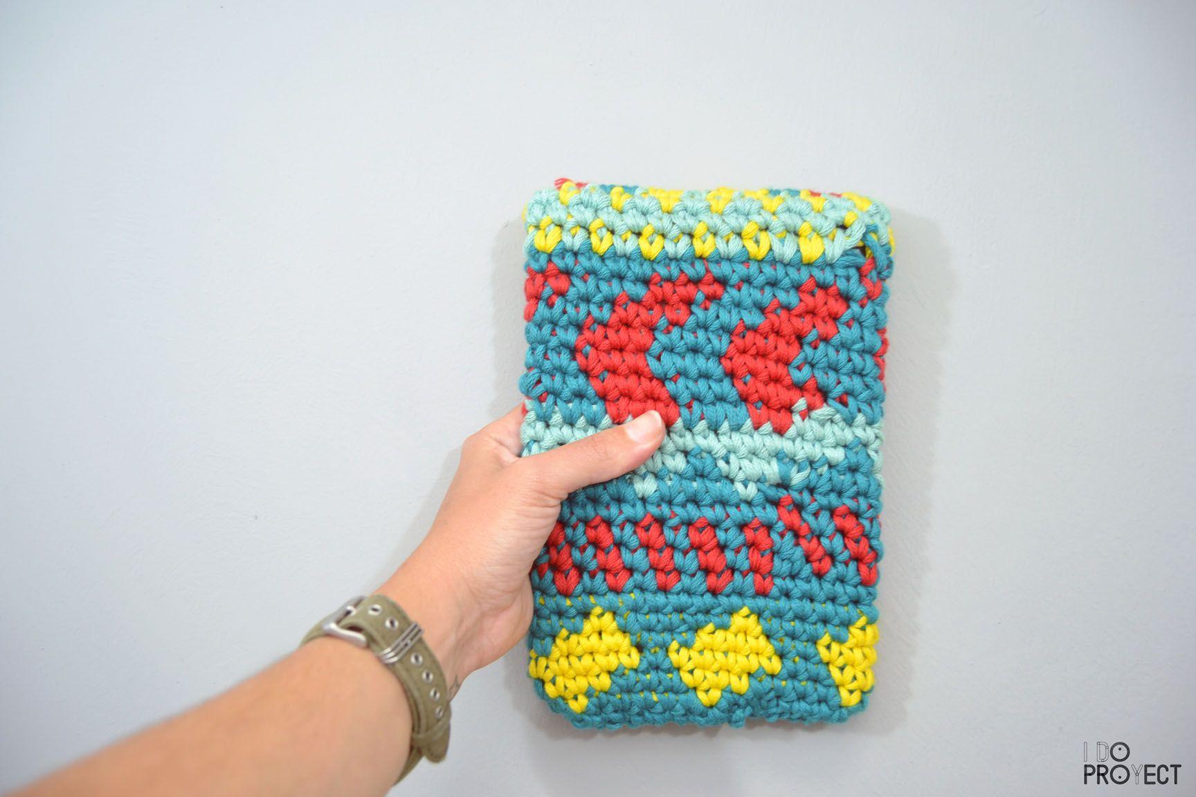 FUNDA IPAD JACQUARD Crochet | Crochet ➰ | Pinterest | Funda ipad ...