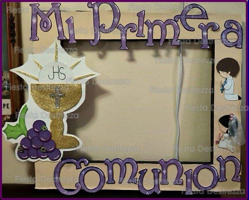 Marco primera comunión | Recuerdos | Pinterest | Communion, Ideas ...