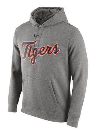 a2c9c3ba8920 Nike Detroit Tigers Mens Grey Club Hoodie