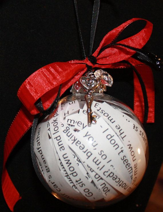 twilight quote filled christmas ornament with key...... whom ever loves me  the mostest will make me this for christmas! - Twilight Quote Filled Christmas Ornament With Key...... Whom Ever