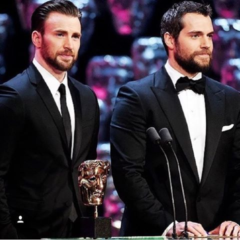 Chris Evans with Henry Cavill