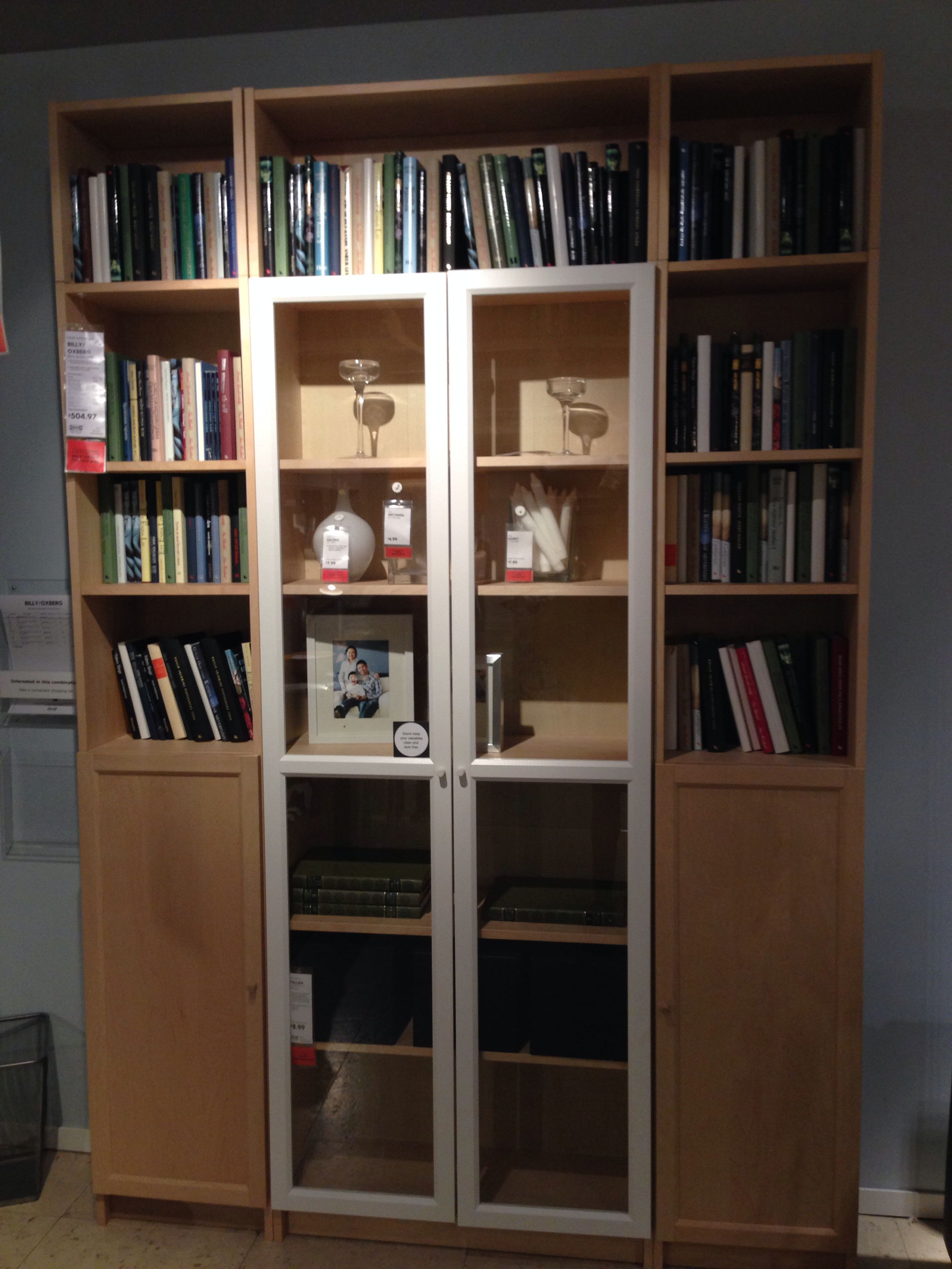 Billy Oxberg Ikea The Inner Bookcase Solid Not Glass Diy  # Bibliotheque Billy Ikea Occasion