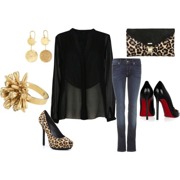 """Sexy Night Out"" outfit that I put together on polyvore.com!"
