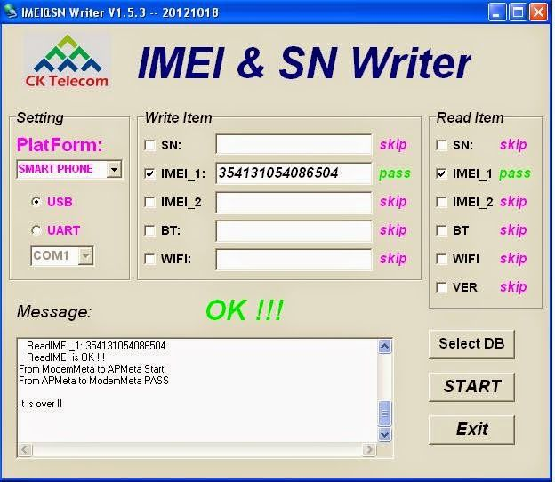imei Sn Writer {Imei Repair} Tool Software Latest Version VR300001