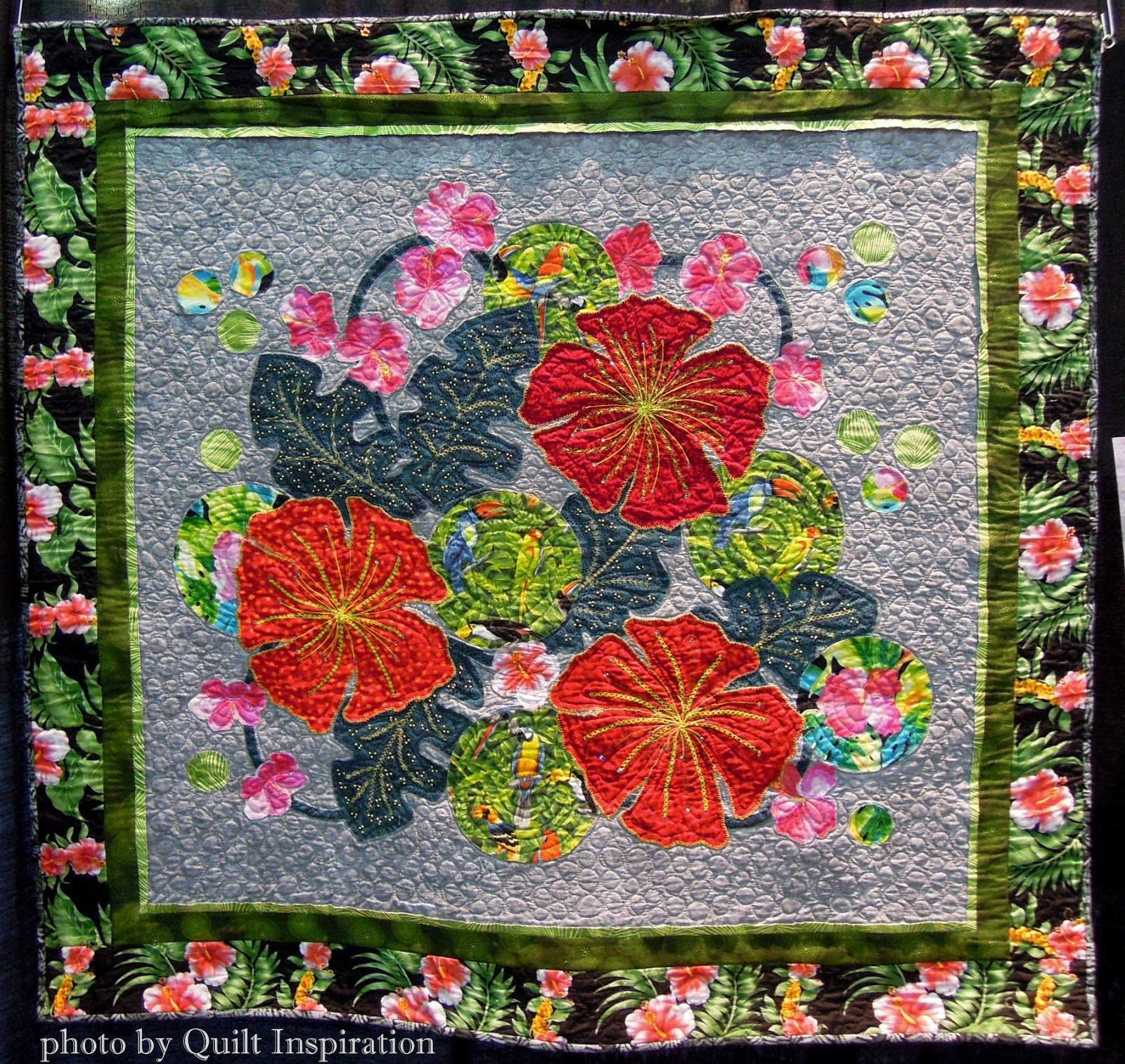 Quilt Inspiration Quilts Of Florida Part 2 In My Garden 48 X 46