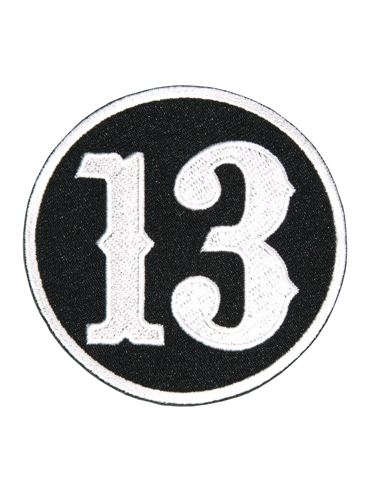 number 13 patch with heat sealed backing  perfect for