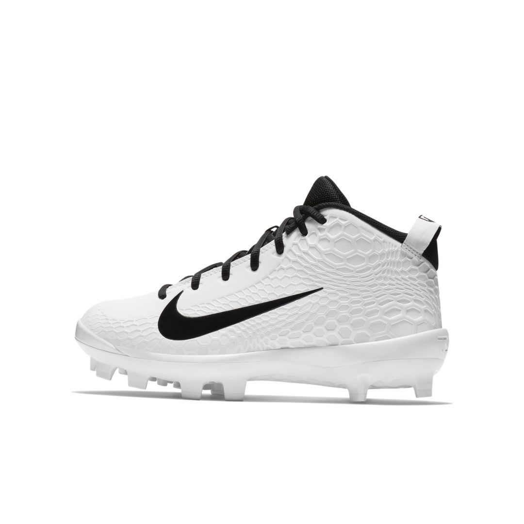 sale retailer 064dc 29641 Nike Force Trout 5 Pro MCS Big Kids  Baseball Cleat Size 4.5Y (White)