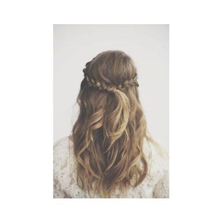 Coiffure mariage demi queue … Coiffure mariage, Cheveux