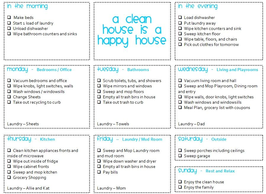 how to make a cleaning schedule
