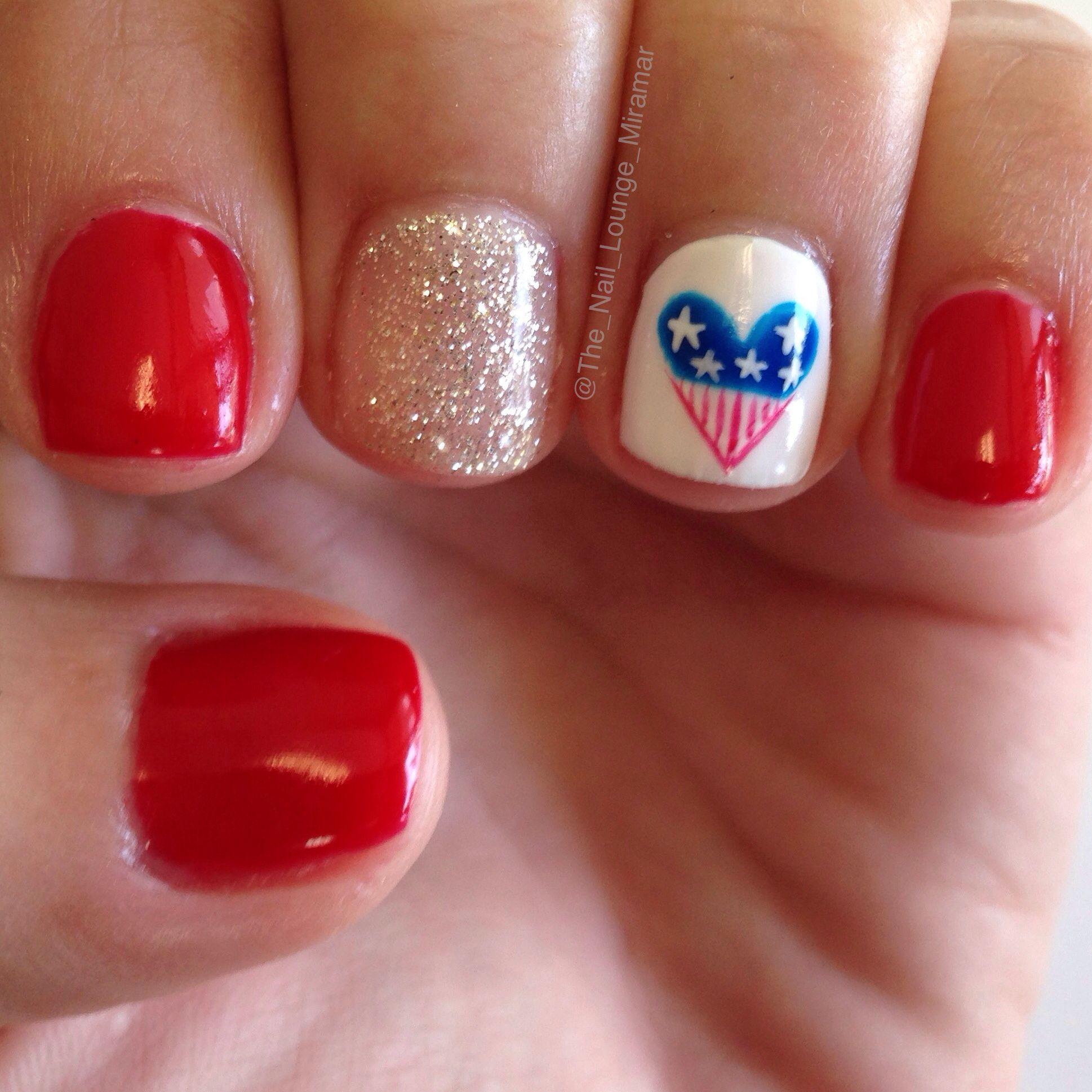 July 4 nail art design | Nail Art | Pinterest | Makeup