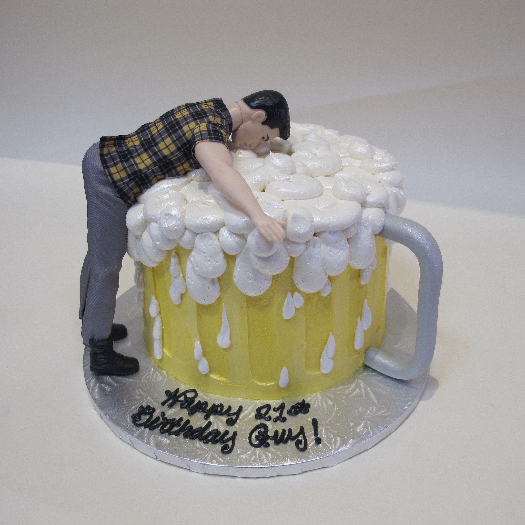 Groovy Dive Right In Guy 301190 Birthday Beer Cake Birthday Cake For Personalised Birthday Cards Beptaeletsinfo