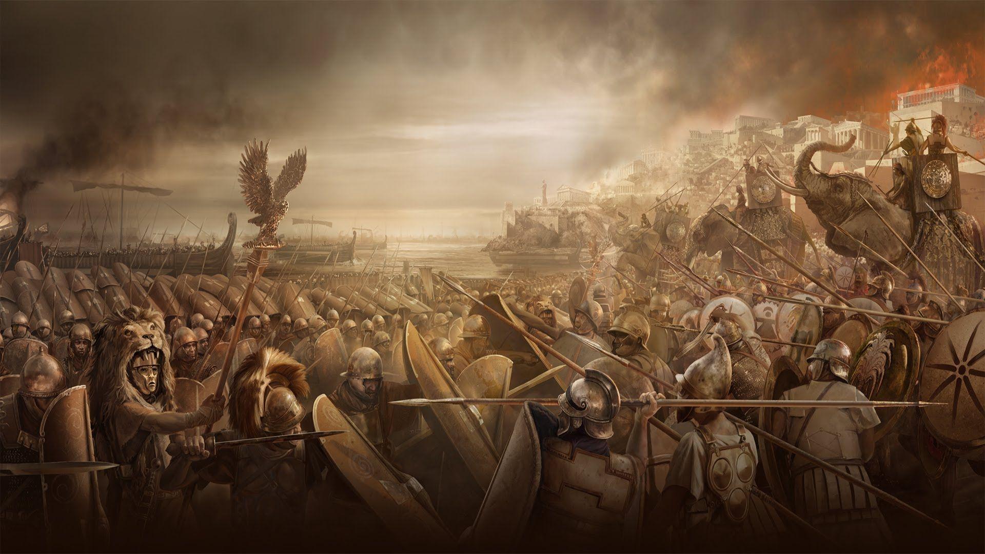 Carthage V Rome Punic Wars Roman Warriors Empire Wallpaper