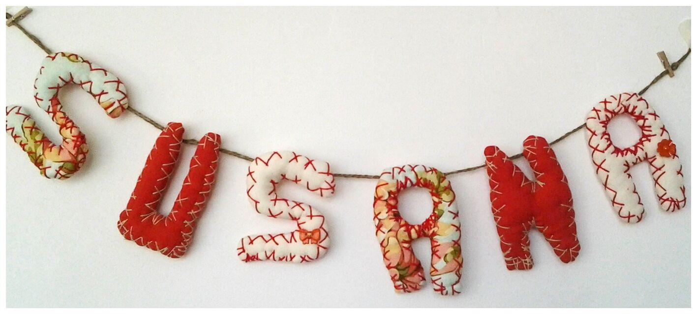 susana | letras y nombres en tela | pinterest