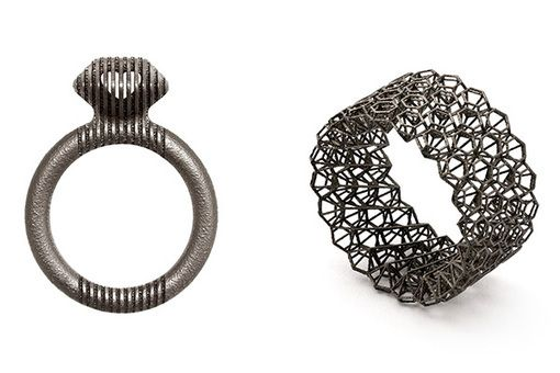 collection shapeways cocktail printed rings jewelry marketplace