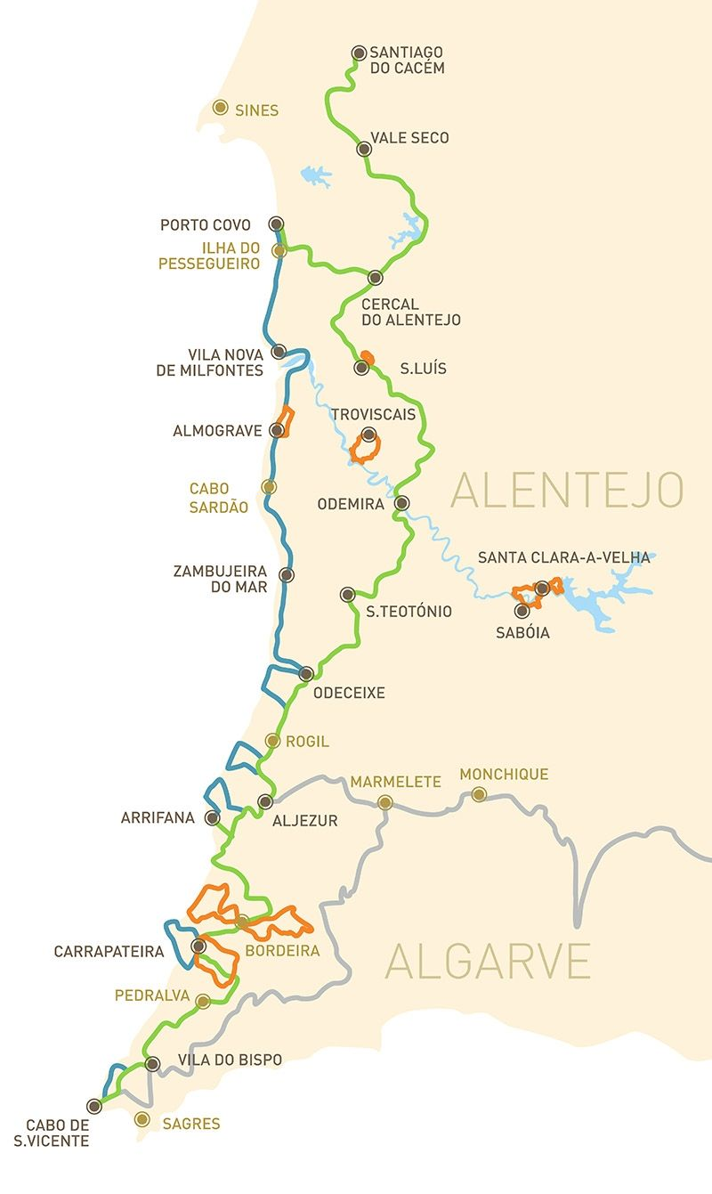 Rota Vicentina Is A Network Of Walking Trails In Sw Portugal