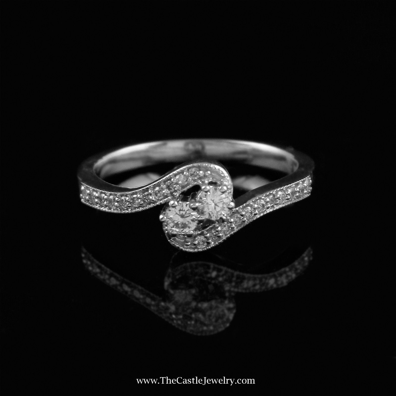 Mytrue Love My Best Friend 2 Round 25cttw Diamond Ring In 10k White Gold Engagement Rings White Gold Love My Best Friend